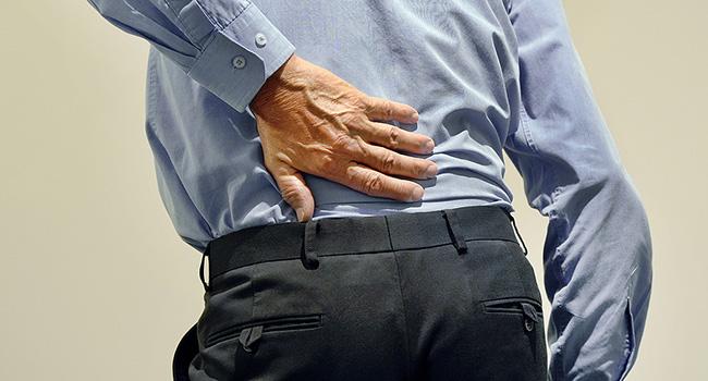 Back pain is a common complaint